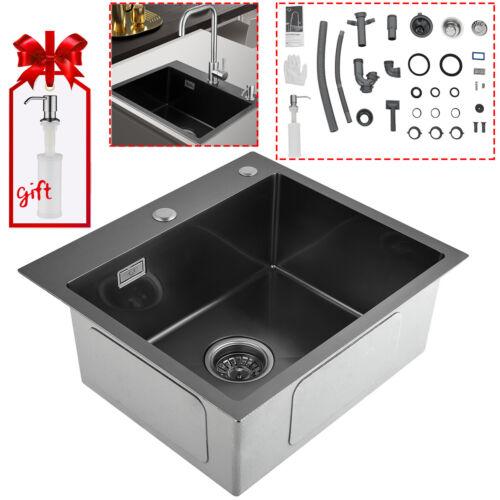 Küchenspüle Unterschränke Küchen Spülbecken Edelstahl Einbauspüle +Seifenspender