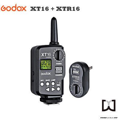 Godox XT16 kit 2,4G Wireless Blitzauslöser und Empfänger Flash-Trigger Receiver Wireless Flash Trigger Kit