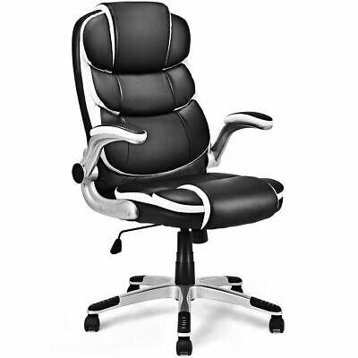 PU Leather High Back Executive Office Chair Swivel Desk Task Computer Ergonomic