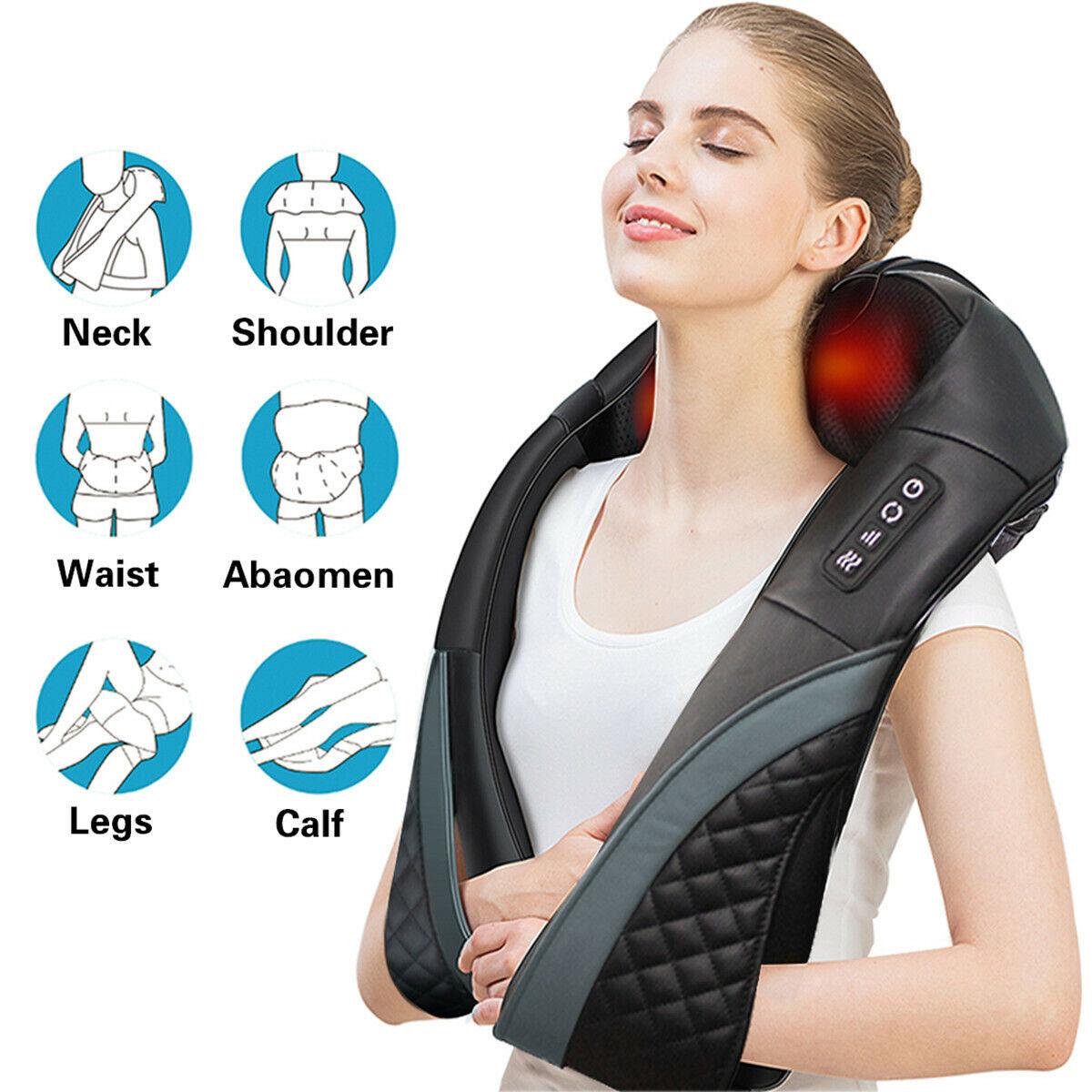 Shiatsu Neck & Back Massager with Heat Deep Kneading Massage