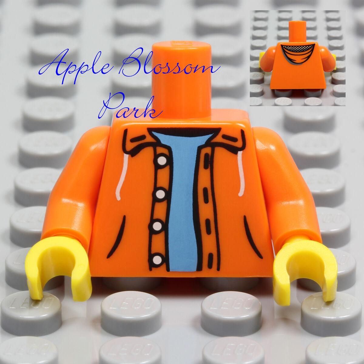 LEGO City White and Medium Blue Minifigure Hoodie Sweatshirt Torso