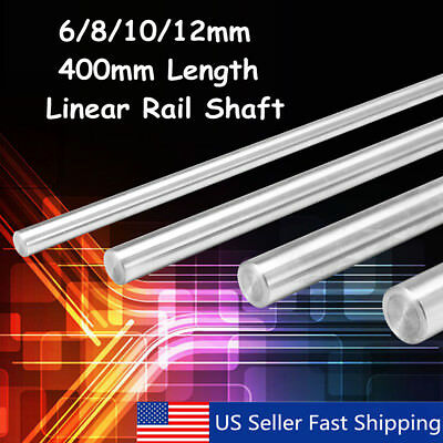 400mm 681012mm Cnc 3d Printer Axis Chromed Smooth Rod Steel Linear Rail Shaft
