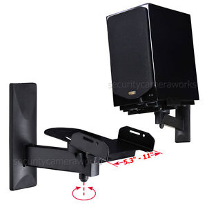 2 Pack Surround Sound Large Bookshelf Speaker Wall Mount Side Clamp Bracket BGS
