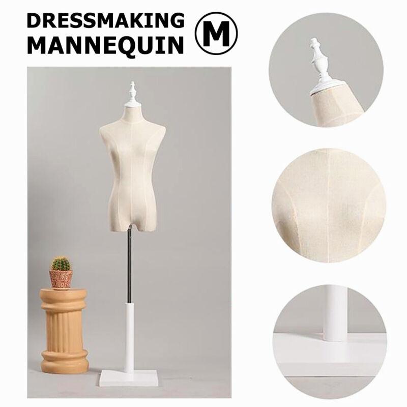 M-Size Female Mannequin Half Model Dressmaker Display Torso Tailor Fashion Dummy