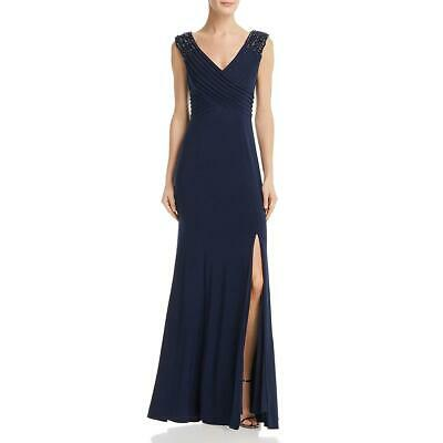 Adrianna Papell Womens Beaded Pintuck Formal Evening Dress Gown BHFO 5494