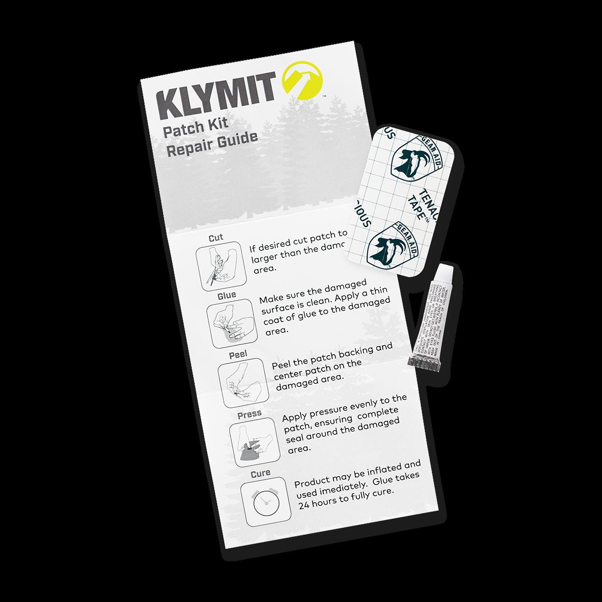 KLYMIT Sleeping Pad PATCH KIT with glue and tenacious tape B