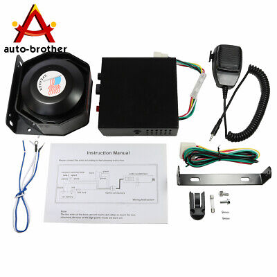 New Car Warning Alarm Fire Horn 200w Pa Speaker Mic System 8 Sound Loud