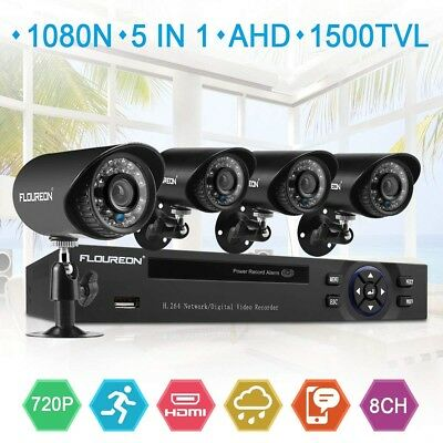 Cmos Lens - Security Camera System 4 Pack 1.0Mp Cmos Lens Night Vision House Access Motion