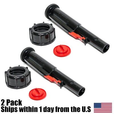 2pk Midwest Gas Can Screw Cap Collar Stopper Black Vent Spout Kit