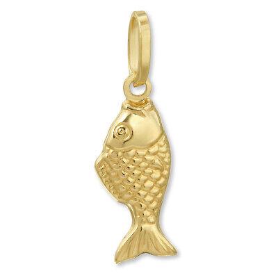 14k Yellow Gold Fish Charm (14k Yellow Gold Goldfish Pendant)