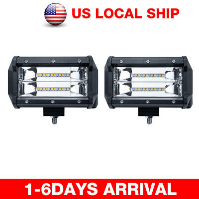 2x 240W Cube LED Pod Work Light Bar Flood Beam Off-Road Driving Fog Lights Lamps