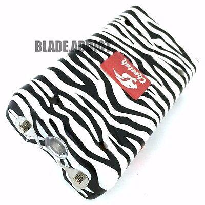 Delta Force 60 Million Volt STUN GUN FLASHLIGHT Self Defense Zebra + Taser Case