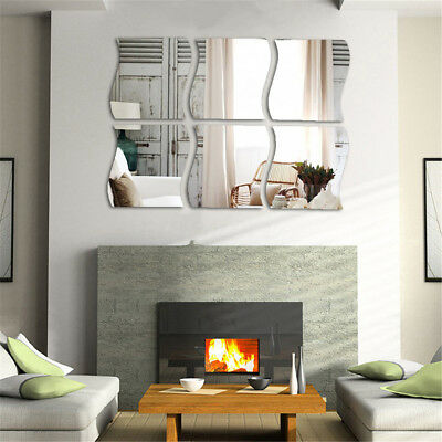 Present-day Art Removable Mirror DIY Decal Vinyl 3D Acrylic Wall Sticker Home Decor