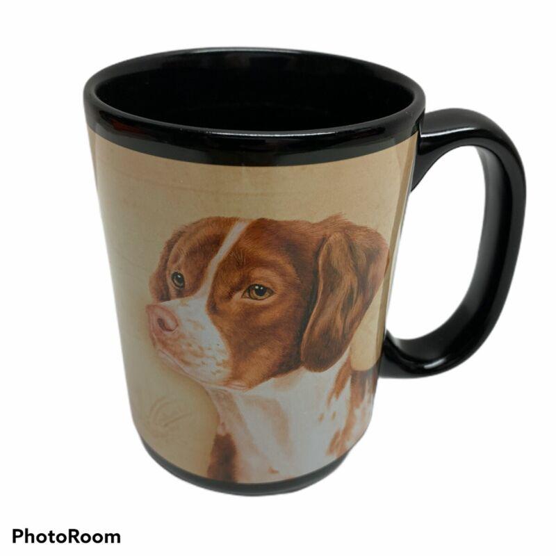 Black Britney Spaniel Dog Coffee Mug Intelligent Loving Enthusiastic