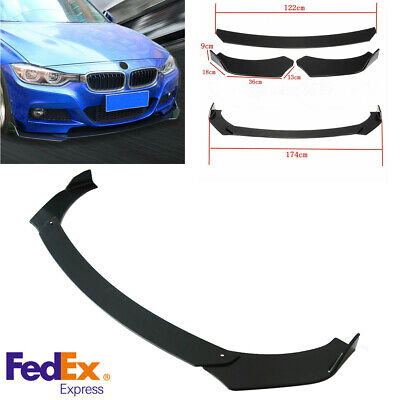 Car Universal Front Bumper Lip Chin Diffuser Spoiler Splitter Wing Body Kit -USA