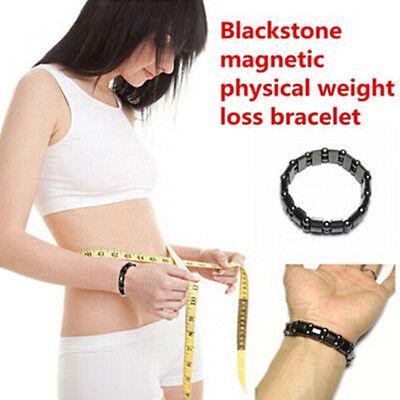 Women Mens Magnetic Black Titanium Steel Bracelet Health Therapy Care Function