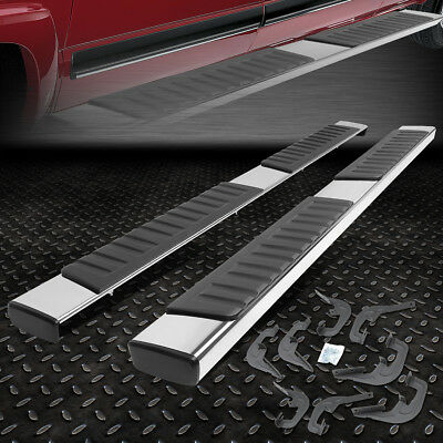 "FOR 2014-2018 CHEVY SILVERADO PICKUP CREW CAB 6""CHROME RUNNING BOARD STEP BAR"