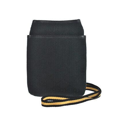 N96 GUCCI Auth Sherry Webbing Shoulder Bag Tote Cross Body Vintage Leather Black