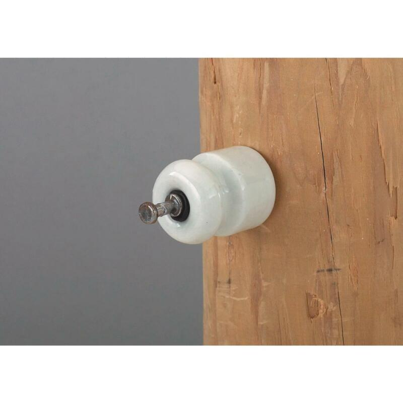 Dare Nail-On White Porcelain Electric Fence Insulator (25-Pack) 16D-25  - 1 Each