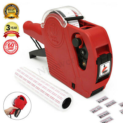 Mx-5500 Eos 8 Digit Price Tag Gun Labeler5000 White Red Lines Labelsink