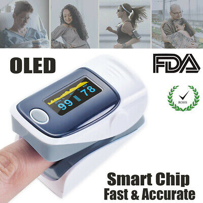 Oled Finger Pulse Oximeter Fingertip Blood Oxygen Spo2 Monitor Saturation Meter