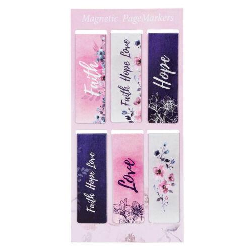 Magnetic Bookmarkers, Faith Hope Love Magnetic Bookmark Set, 1 Corinthians 13:13