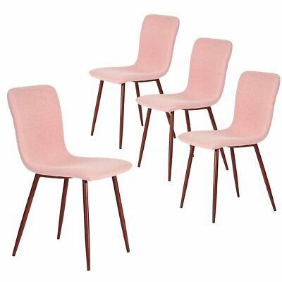 Set of 4 Dining Chair, Modern Fabric Side Chair with Walnut Legs for Dining Room for sale  Richmond Hill