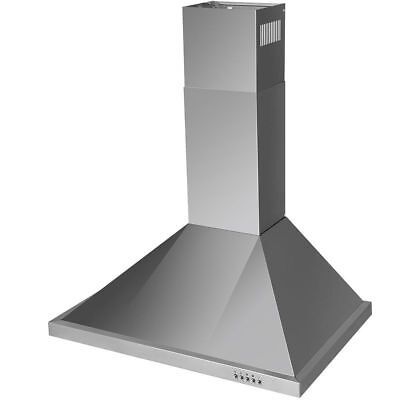 "30"" Wall Mount Kitchen Range Hood Stainless Steel Vent Cooking Fan w/ Led Lights"