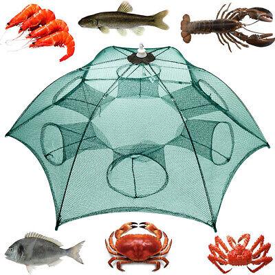 Foldable Fishing Bait Trap Crab Net Crawdad Shrimp Cast Dip Cage Fish Minnow -