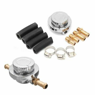 - Car Universal Adjustable 8mm 10mm Hose Fuel Pump Pressure Regulator 1-5 Psi ~