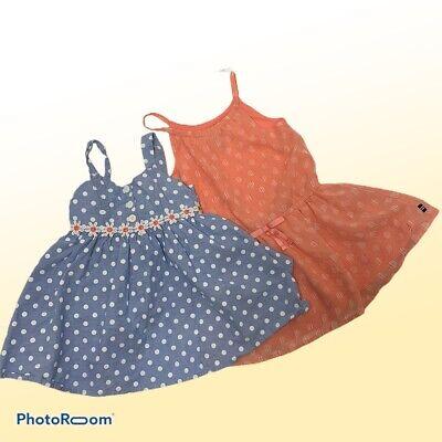 Girls Size 2T Sun Dresses Daisies Nautica Pinky Chambray Chiffon Bundle Lot 2