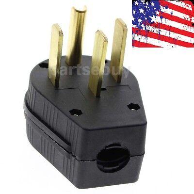 New Nema 14-50p 50a 125250v Straight Blade Angle Plug For Dryer Rv Generator