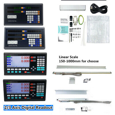 23 Axis Digital Readout Linear Glass Scale Encoder Dro Ttl For Milling Lathe Us