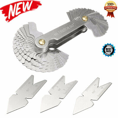 4pcs 5560 Inch Metric Screw Thread Pitch Cutting Gauge Tool Centre Gage Us