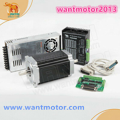Us Free Ship Wantai 1axis Nema34 Stepper Motor Dual Shaft 1600oz-in Cnc Kit