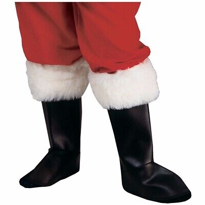 Santa Claus Boot Tops Costume Accessory Shoe Covers Faux Fur Adult Christmas