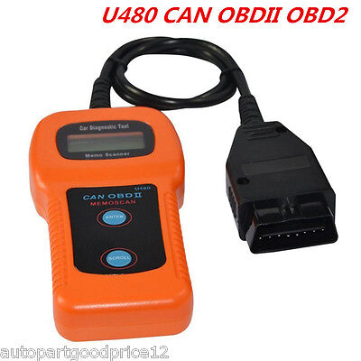 Universal U480 OBD2 OBDII CAN Auto Car Fault Code Reader Diagnostic Scanner Tool