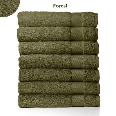 Sferra Bello Dark Green Bath Sheet Towel Forest Solid 100% C