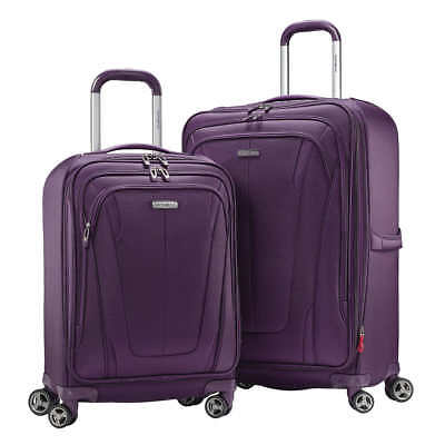 NEW Samsonite Gray GT Dual 2-piece Softside Luggage Suitcase SET (V-Colors)