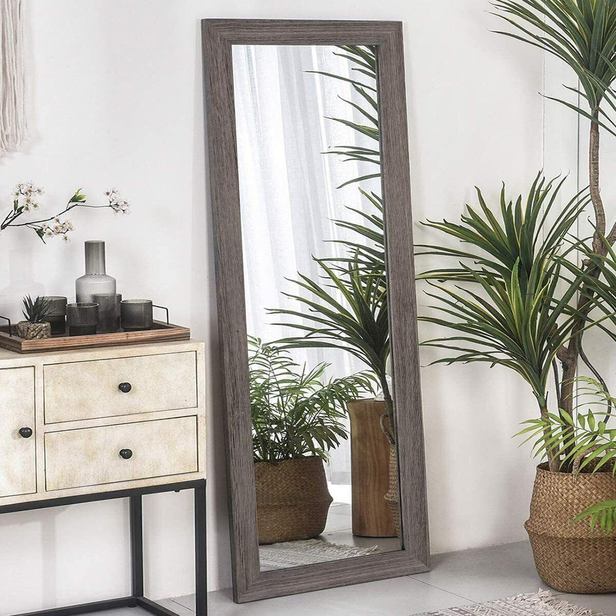 """63""""x22"""" Full Length Floor Mirror Full Body Mirror Wood Frame"""