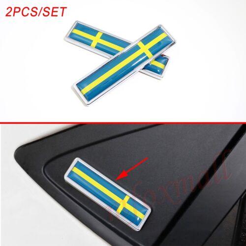 Chrome Metal Accessory For Swede SE Flag Emblem 3D Sticker Decal Car Badge Trim
