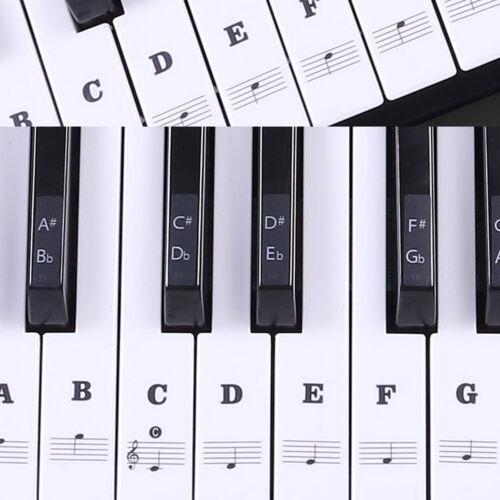 88/61/54/49 Keys Piano Music Keyboard Stickers Set Learn to