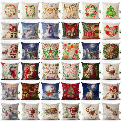 18 christmas pillow cover case santa sofa
