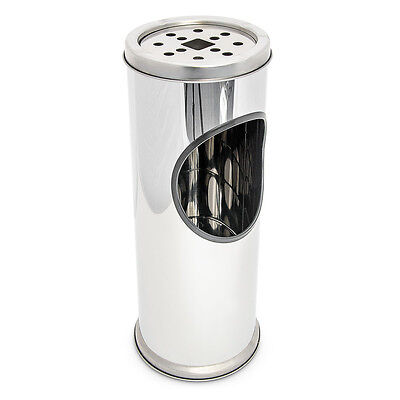 Standaschenbecher Edelstahl Aschebehälter Standascher Aschenbecher mit Mülleimer