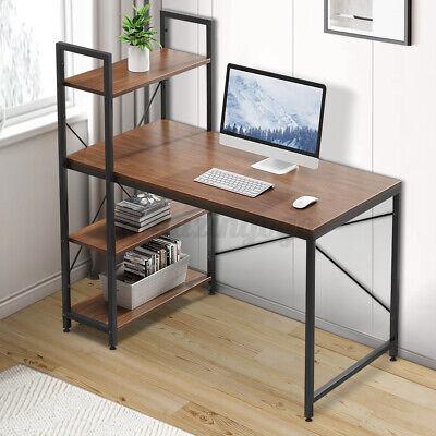 Computer Desk Laptop Pc Corner Gaming Table Study Workstation Home Office Shelf