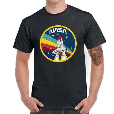 NASA Logo Rocket Men Graphic T-Shirt Short Sleeve Funny Tops Tee Shirts Funny Logo Tees