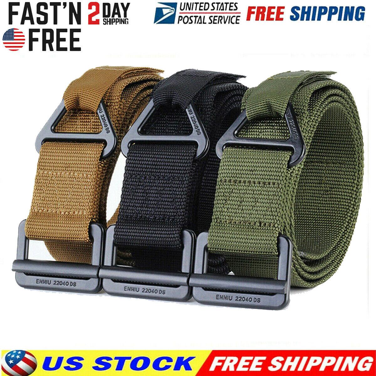 Men Military Belt Buckle Adjustable Combat Waistband Tactica