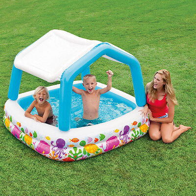 Intex Sun Shade Inflatable Pool - Size 5.25ft x 5.25ft