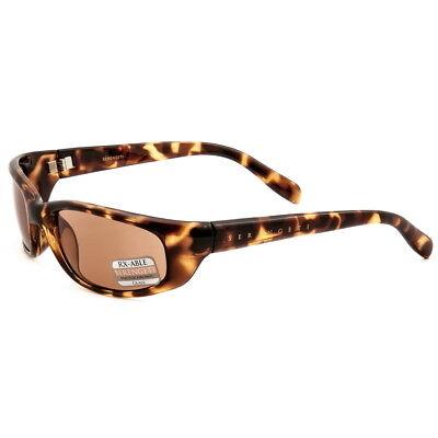 Serengeti Sunglasses Bromo Shiny Tortoise Drivers 6981 W/ Large Dark Brown Case