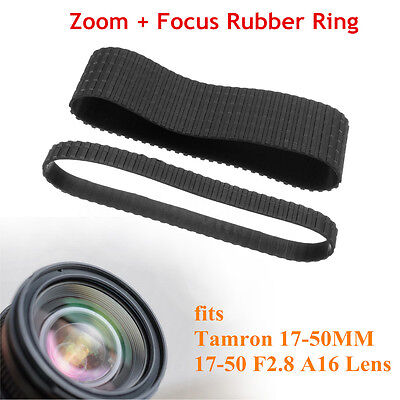 2X Lens Zoom + Focus Grip Rubber Ring Set For Tamron 17-50MM 17-50 F2.8 A16 Lens